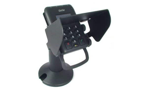 Miura Systems M10 Card Reader Pro - Contactless Chip & PIN Reader Tilt and Swivel Stand with Privacy Shield
